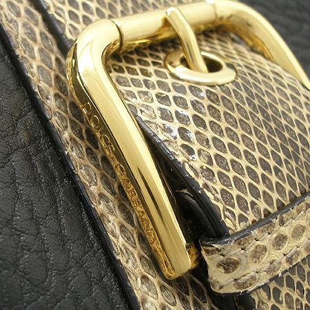 D&G(돌체&가바나) 블랙 래덧 뱀피 문양 벨트 장식 토트백 [부산센텀본점]