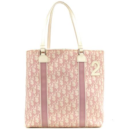 Dior(크리스챤디올) 핑크 로고 PVC 바겟 숄더백 [강남본점]