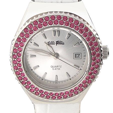 FOLLI FOLLI(폴리폴리) 밴드 / 원형 라운드 베젤 체인지 여성용 시계 [강남본점]