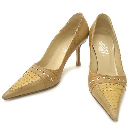 Versace(베르사체) 크로커다일 패턴 징 장식 펌프스 여성용 구두 [강남본점]