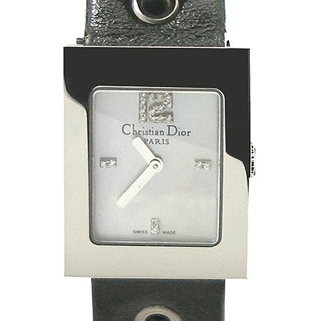 Dior(크리스챤디올) CD052115A002D108-109 사각 프레임 스틸 다이아 자개판 여성용 시계 [강남본점]