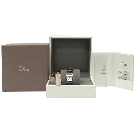 Dior(크리스챤디올) CD052115A002D108-109 사각 프레임 스틸 다이아 자개판 여성용 시계 [강남본점] 이미지2 - 고이비토 중고명품