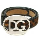 D&G(돌체&가바나) 은장 로고 바클 송치 레오파드 여성용 벨트 [대구반월당본점]
