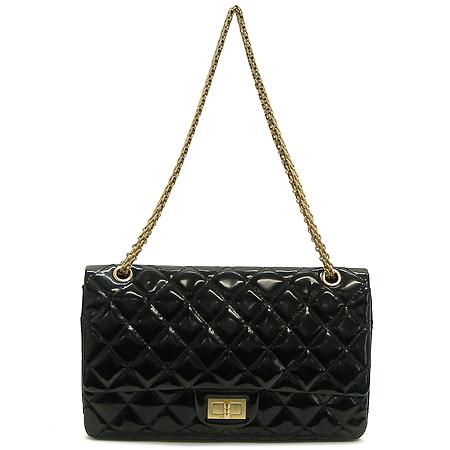 Chanel(샤넬) 금장 메탈릭 블랙 컬러 에나멜 2.55 빈티지 체인 숄더백 [대구반월당본점]