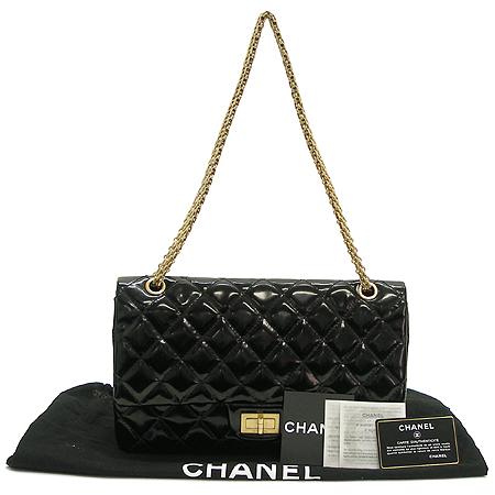 Chanel(샤넬) 금장 메탈릭 블랙 컬러 에나멜 2.55 빈티지 체인 숄더백 [대구반월당본점] 이미지2 - 고이비토 중고명품