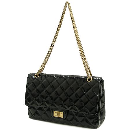Chanel(샤넬) 금장 메탈릭 블랙 컬러 에나멜 2.55 빈티지 체인 숄더백 [대구반월당본점] 이미지3 - 고이비토 중고명품