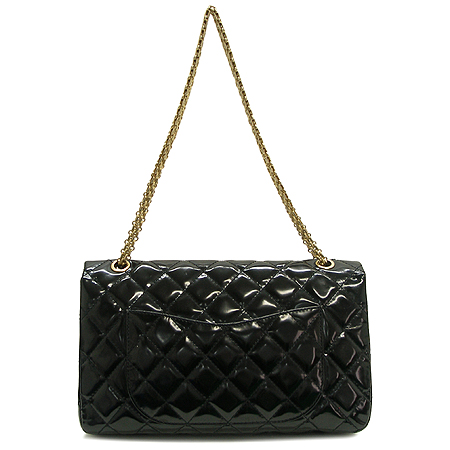 Chanel(샤넬) 금장 메탈릭 블랙 컬러 에나멜 2.55 빈티지 체인 숄더백 [대구반월당본점] 이미지4 - 고이비토 중고명품