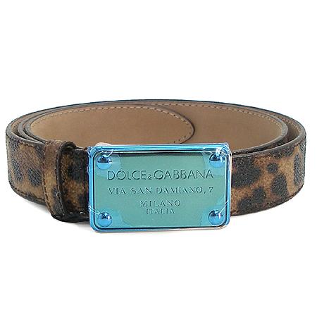 D&G(돌체&가바나) BE0721 금장 로고 버클 레오파드 장식 여성용 벨트