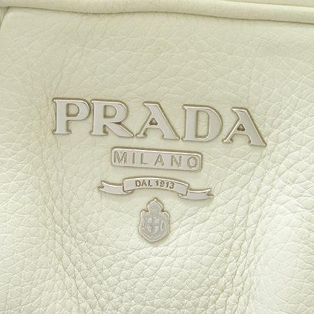 Prada(프라다) BL0273 은장 로고 장식 래더 볼링 숄더백