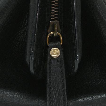 Celine(셀린느) 금장 로고 블랙 래더 토트백