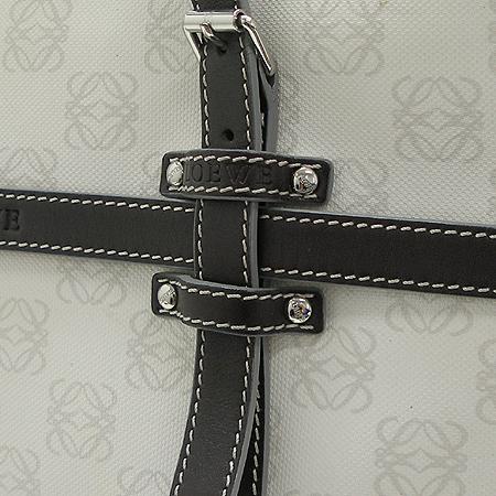 Loewe(로에베) 로고 PVC 브라운 래더 트리밍 토트백