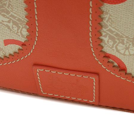 Celine(셀린느) 로고 PVC 오렌지 컬러 래더 트리밍 토트백 + 크로스 스트랩 이미지5 - 고이비토 중고명품