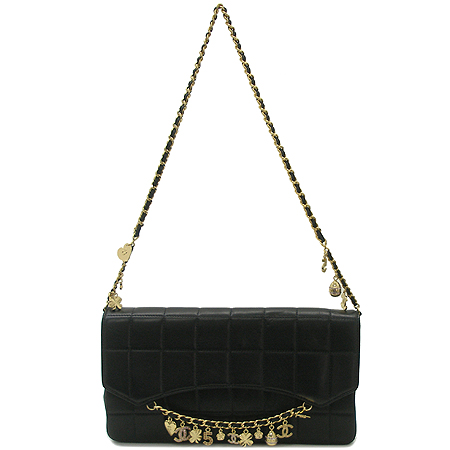 Chanel(샤넬) 발렌타인 램스킨 참장식 금장체인 숄더백
