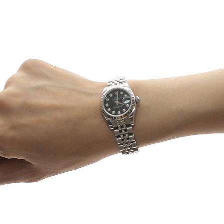 Rolex(로렉스) 179174 10포인트 다이아 DATEJUST(데이트저스트) 여성용 시계 [압구정매장]