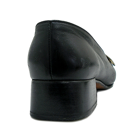 Ferragamo(페라가모) 블랙 래더 펌프스 여성용 구두