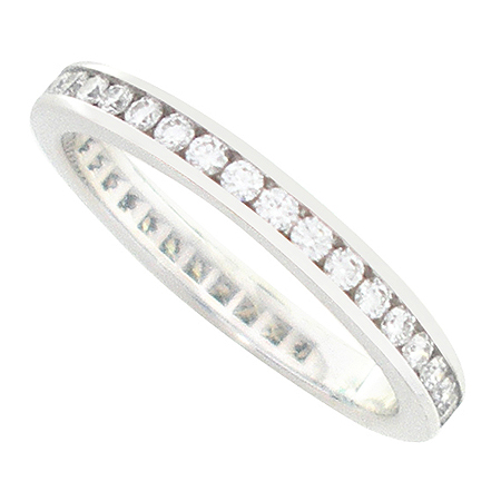 Tiffany(티파니) PT950 (플래티늄) 2MM. CHANNEL SET FULL 다이아몬드 반지