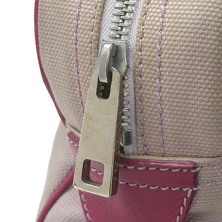 Marc_Jacobs (마크 제이콥스) 투포켓 패브릭 핑크 컬러 래더 트리밍 베네치아 토트백