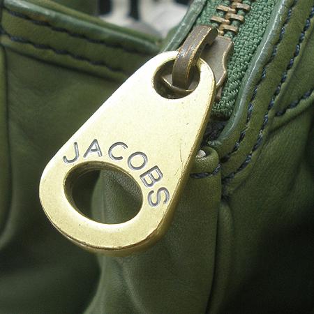 Marc by MarcJacobs(마크바이마크제이콥스) 투 포켓 금장 로고 장식 그린 래더 숄더백