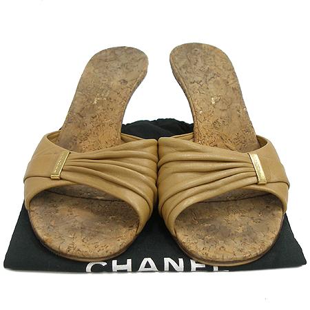 Chanel(샤넬) 베이지 컬러 래더 여성용 샌들 이미지2 - 고이비토 중고명품