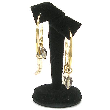 Swarovski(스와로브스키) 큐빅 장식 금장 귀걸이 [강남본점]