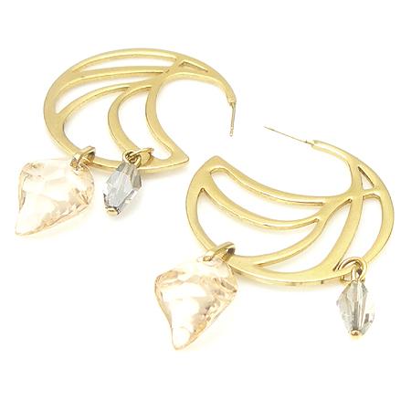Swarovski(스와로브스키) 큐빅 장식 금장 귀걸이 [강남본점] 이미지3 - 고이비토 중고명품