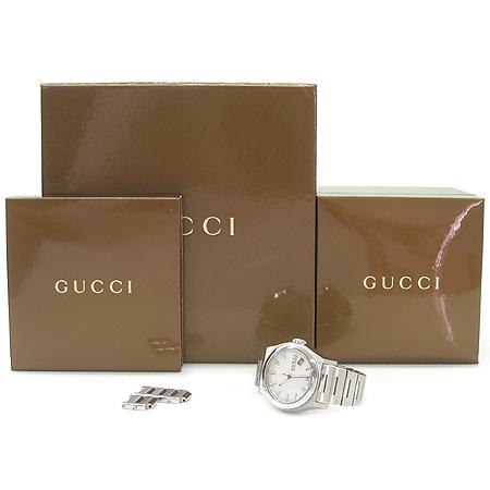 Gucci(구찌) YA115402 PANTHEON 자개판 스틸 남녀공용 시계 이미지2 - 고이비토 중고명품