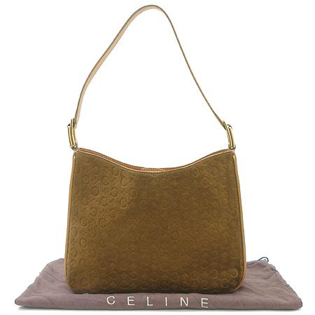 Celine(셀린느) 브라운 C로고 스웨이드 가죽 스티치 숄더백 이미지2 - 고이비토 중고명품