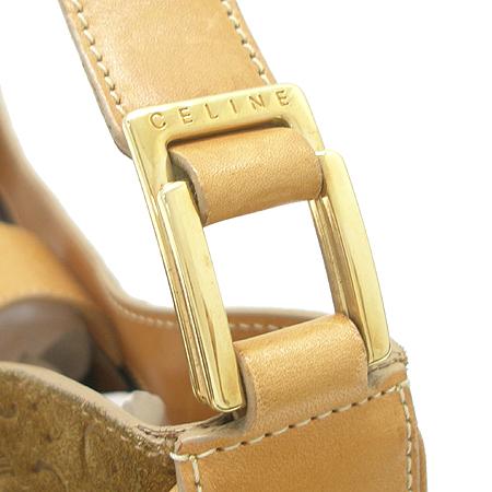 Celine(셀린느) 브라운 C로고 스웨이드 가죽 스티치 숄더백 이미지4 - 고이비토 중고명품