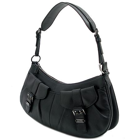 Dior(크리스챤디올) 블랙 래더 2포켓 메신져 숄더백