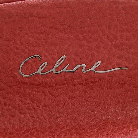 Celine(셀린느) 은장 이니셜 로고 장식 엠보 래더 숄더백