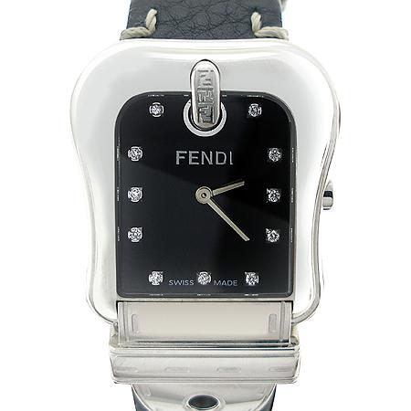 Fendi(펜디) 3800G 11포인트 다이아 B-FENDI 누빔 스티치 가죽밴드 시계