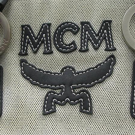 MCM(엠씨엠) 블랙래더 캔버스 혼방 로고스티치 투 포켓 토트백