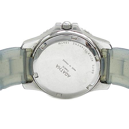 Agatha(아가타) 원형 팬던트 러버 밴드 여성용 시계