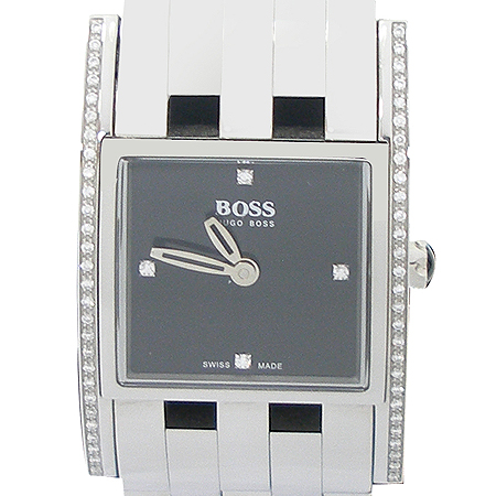Hugo Boss(휴고보스) 베젤 다이아 스퀘어 스틸 여성용 시계