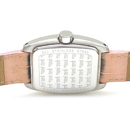 FOLLI FOLLI(폴리폴리) 크리스탈 베젤 가죽밴드 여성용 시계