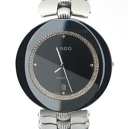 RADO(라도) 다이아 블랙 다이얼 크리스마 스틸 남녀 공용 시계