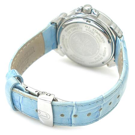 LANCASTER(랑캐스터) 베젤 다이아(0.86ct) 자개 다이얼 가죽 밴드 여성용 시계