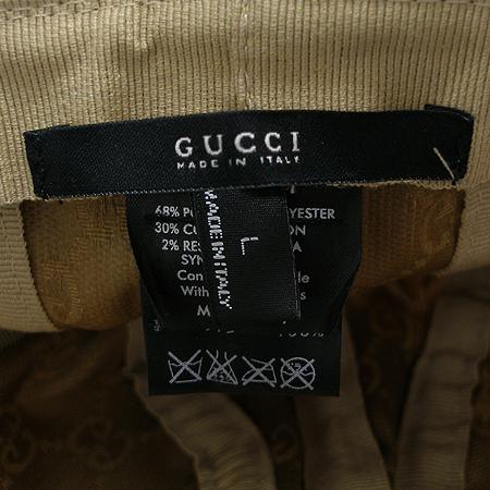 Gucci(구찌) GG 로고 자가드 벙거지 모자