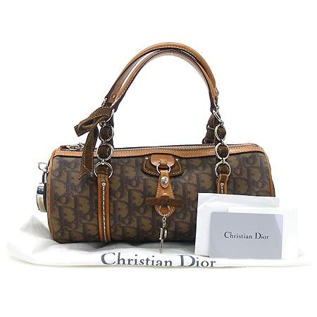 Dior(크리스챤디올) LCS44703 브라운 로고 PVC 미니 보스톤 토트백