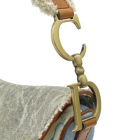 Dior(크리스챤디올) 믹스 패브릭 새들 숄더백