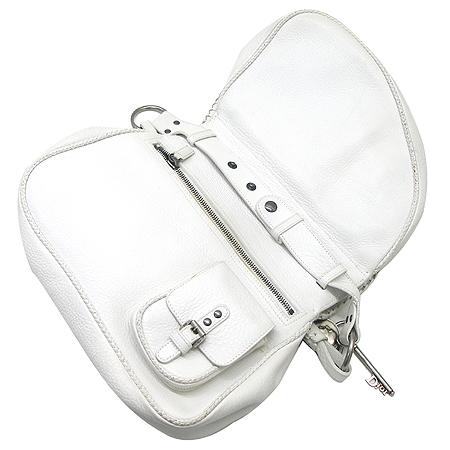Dior(크리스챤디올) 화이트 레더 가우초 더블 숄더백 이미지4 - 고이비토 중고명품