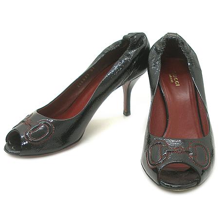 Gucci(구찌) 246831 블랙 페이던트 여성용 구두