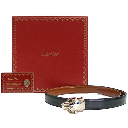 Cartier(까르띠에) L5000122 팬더 은장 버클 가죽 양면 벨트 이미지2 - 고이비토 중고명품