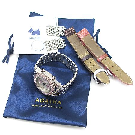 Agatha(아가타) 베젤 장식 크로노 여성용 시계 [강남본점]