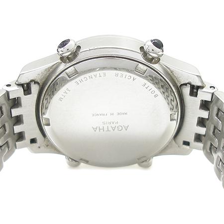 Agatha(아가타) 베젤 장식 크로노 여성용 시계