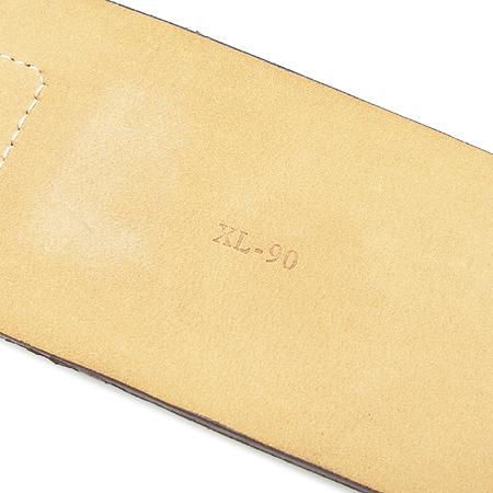 Ferragamo(페라가모) 23 5754 브라운 컬러 스웨이드 콤비 간치니 버클 장식 여성용 벨트