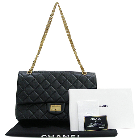 Chanel(샤넬) 2.55 빈티지 L 사이즈 금장 체인 숄더백