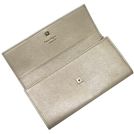 Ferragamo(페라가모) 22 A871 골드브론즈 리본 바라장식 장지갑