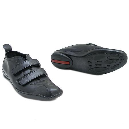 Prada(프라다) 블랙 래더 스니커즈 이미지2 - 고이비토 중고명품