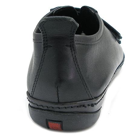 Prada(프라다) 블랙 래더 스니커즈 이미지4 - 고이비토 중고명품